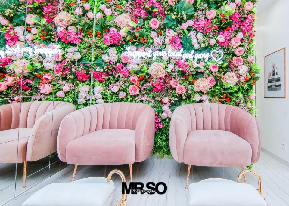 interieur salon de beauté mademoiselle paris par MrSo Photography photographe immobilier à Orléans 45, Loiret et Centre Val de Loire