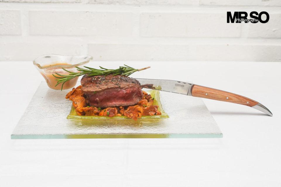 Le filet de bœuf sauce au poivre: Salade de poulpe passion MrSo photographe culinaire 45 Orléans, Loiret et Centre Val de Loire