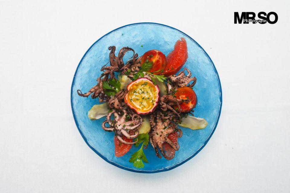 Salade de poulpe passion: MrSo photographe culinaire 45 Orléans, Loiret et Centre Val de Loire