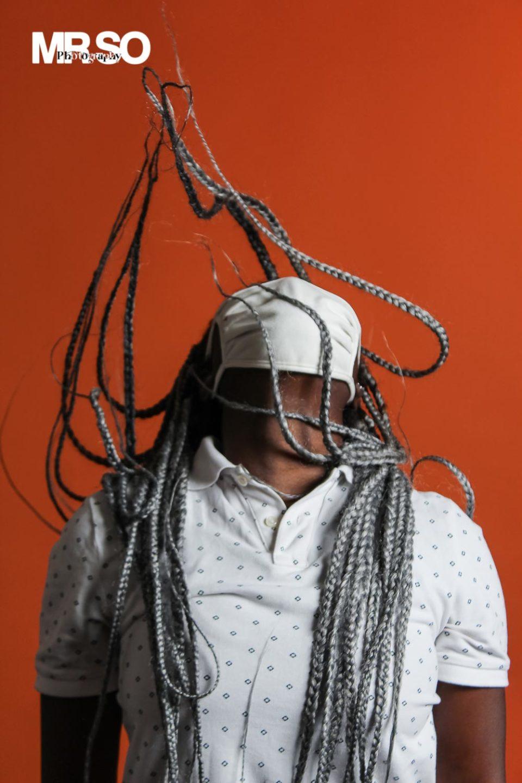 Le masque de Cherifa cheveux gris cheveux fou photographe life style 45 Orléans, Loiret et Centre Val de Loire